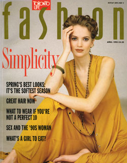 Fashion, April 1992. The headline speaks for itself...Simplicity.