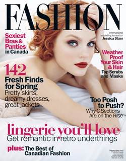 Fashion February 2005.  Canada's own Jessica Stam looking like looking Marily Monroe-esque. Stark, simple, beautiful.