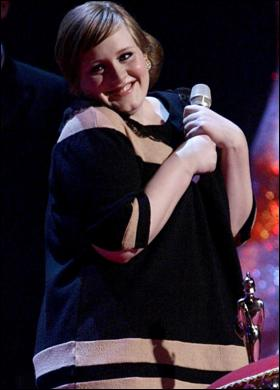 Songstress Adele at the 2007 Brit Awards