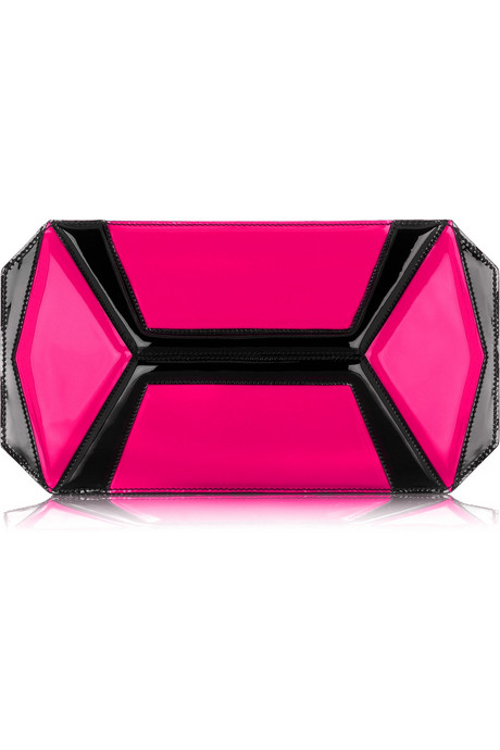 Alexander McQueen neon panel clutch $1,070US