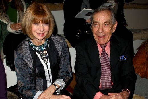 Anna Wintour and Morley Safer at the Ralph Lauren Fall 2009 show at New York Fashion Week