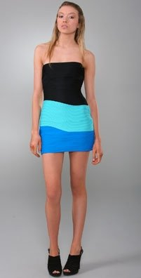 Alexander Wang fitted combo dress now On Sale for $556.50 (Original Price $795)