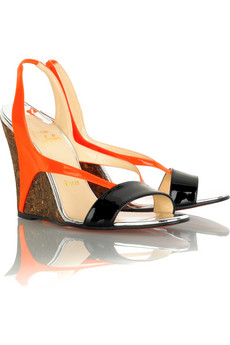 Yasmine cork wedges. Original price $795, Now $477