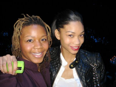 Claire with model Chanel Iman