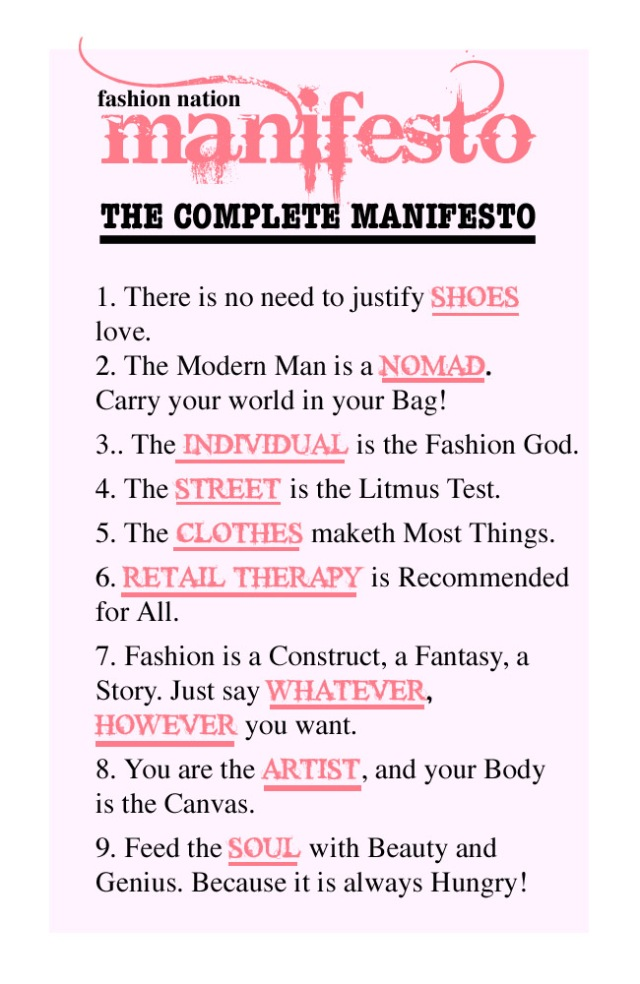 Fashion Nation Manifesto