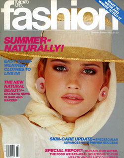 Fashion, Summer 1983. I think I like this one because of the way that it represents the style of that era.