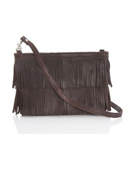 French Connection fringe Folly clutch $88CA