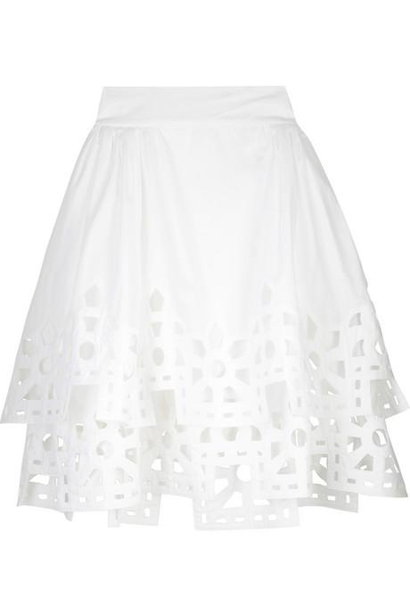 Fendi cotton cutout skirt