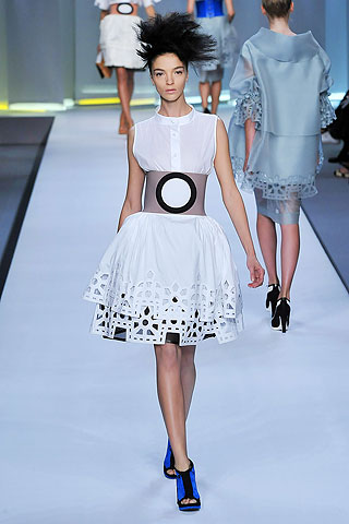 Fendi Laser-cut skirt