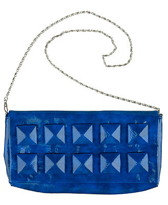 Forever 21 studded glossy clutch $22.80CA