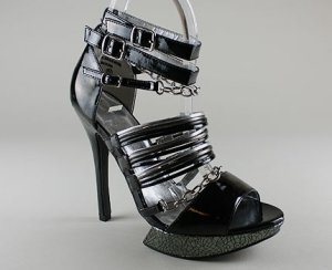 Go Jane strappy cracked platform heel $26.80US