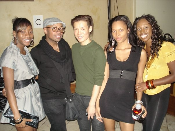 From left: me, Kirk Pickersgill, Stephen Wong and two friends at the Greta Constantine Spring/Summer 2009 show.