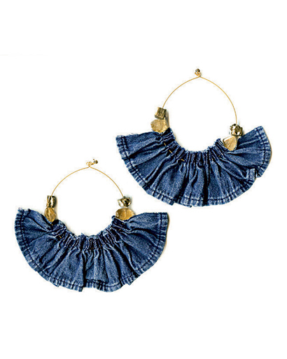 Johanne Mills denim earrings