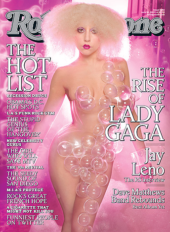 Lady Gaga on the cover of the June Issue of Rolling Stone chot by David LaChapelle