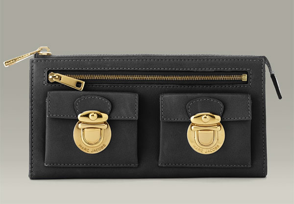 Marc Jacobs soft classic zip clutch $395US at Neiman Marcus