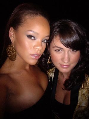 Mariel Haenn with Rihanna
