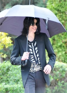 Michael Jackson in Balmain shirt