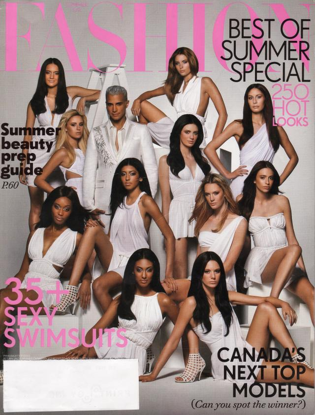 The Finalists for Canada's Next Top Model Cycle 3 on the cover of FASHION Magazine with Jay Manuel