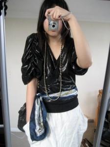 Belt scarf a la Susie Bubble of Style Bubble