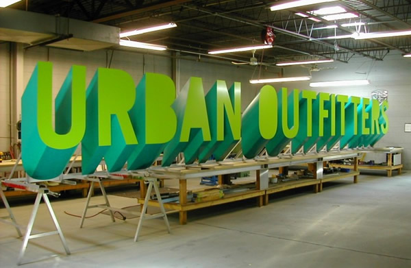 Urban Oufitters Sign