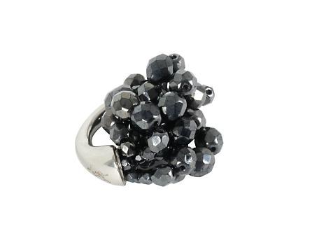 Yves Saint Laurent glass cluster ring