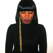 14 inch gold chin earring from Dechel McKillian