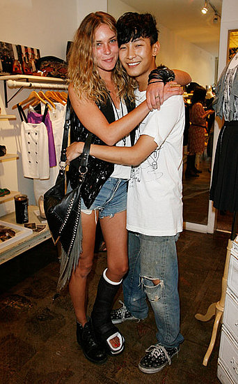 Alexander Wang with muse model Erin Wasson