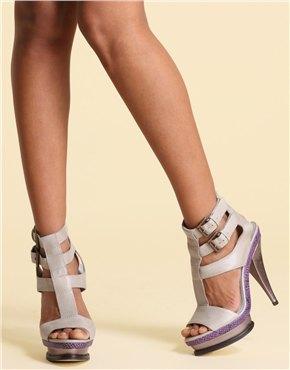 ASOS leather double buckle high platform sandals L85