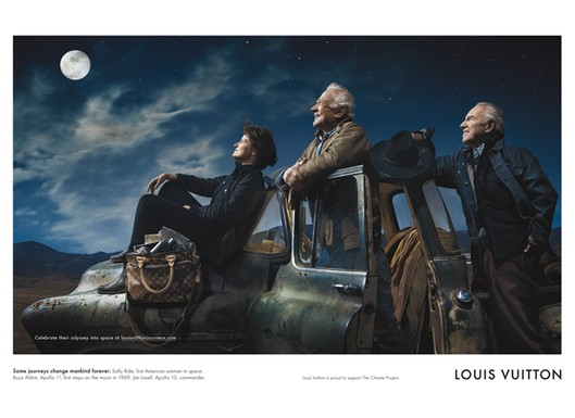 Astronauts in Louis Vuitton's latest campaign