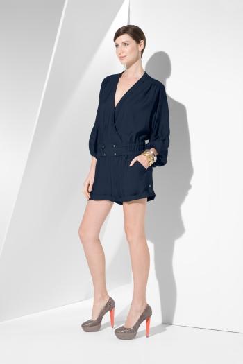 BCBG Max Azria twill long-sleeve jumpsuit $216USD