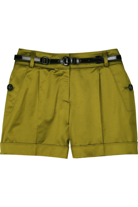Burberry satin city shorts Was $350 Now $140