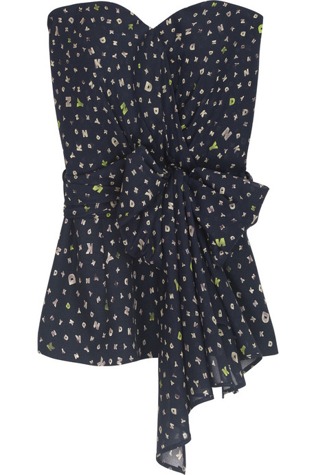 DKNY logo dotted bustier Was $225 Now $126 (Which looks great with boyfriend jeans)
