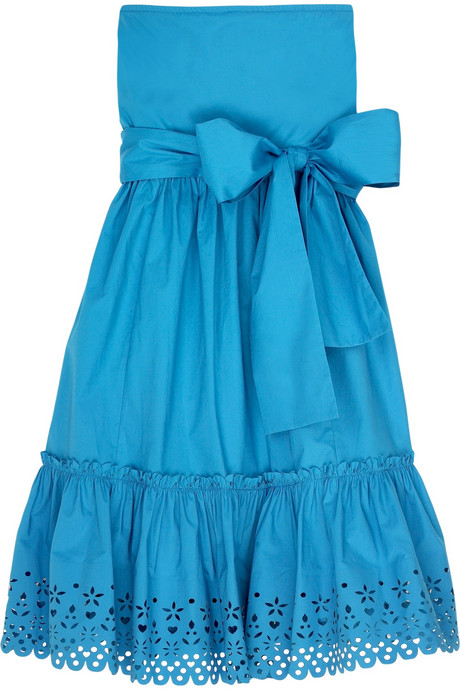 DKNY strapless cotton-blend sundress $345USD at Net-A-Porter