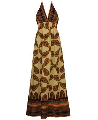 Forever 21 paisley halter maxi dress $27.80CAD