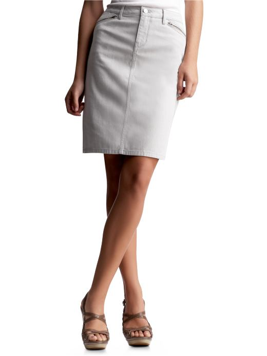 Gap denim zip-pocket pencil skirt $54.50USD