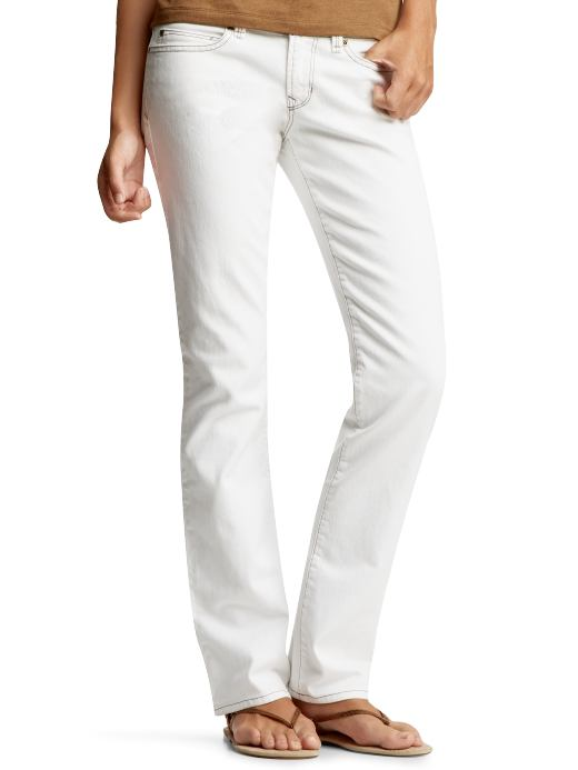 Gap white straight leg jeans $59.50USD