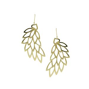Plain Yellow Gold Leaf Earrings £1400.00