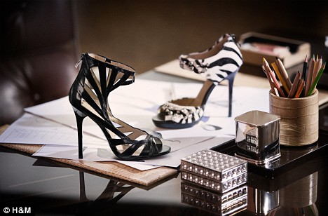 Some of the designs for the Jimmy Choo collection for H&M