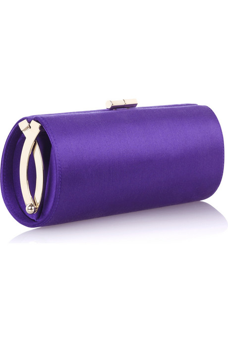 Jimmy Choo tube satin clutch. I have one like this from H&M but I love the hardware on this one.