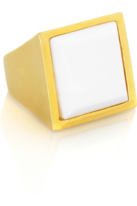 Kenneth Jay Lane square cocktail ring Was $70 Now $16.80