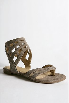 Kimchi Blue suede cage sandal $39.99USD (Was $68USD) at Urban Outfitters