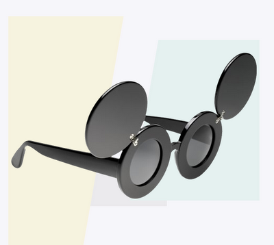 "Mouse flip-up sunglasses that Lady Gaga wore in her ""Paparazzi"" video."