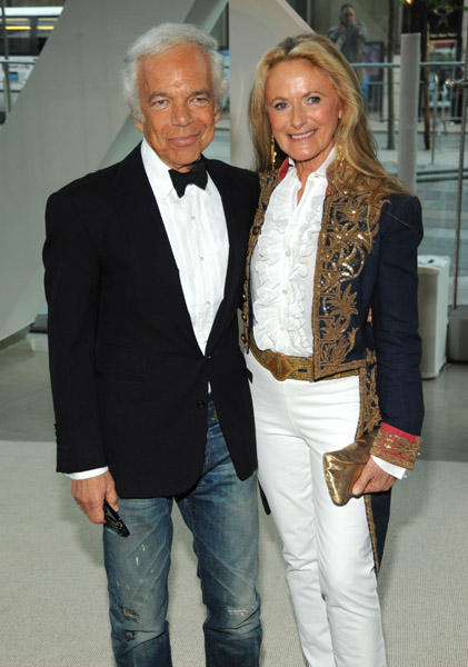 Ralp Lauren with his wife Ricky Lauren