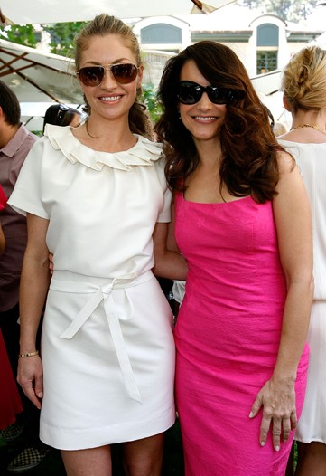 Rebecca Gayheart (left) and Sex and the City's Kristin Davis