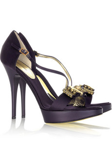 Roberto Cavalli jewel bow platform sandals Original Price $1,025 Now $410
