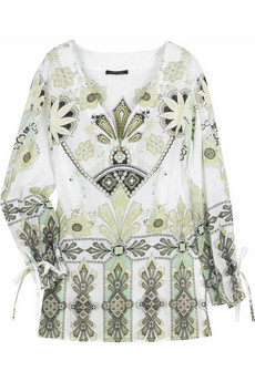 Roberto Cavalli printed kaftan top Original Price $820 Now $328