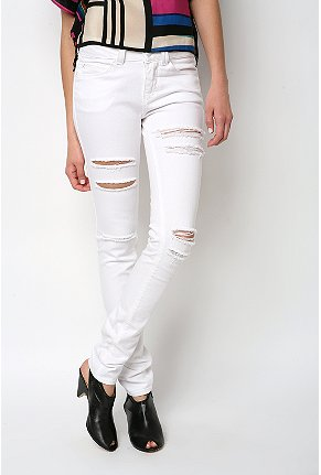 Silence & Noise high rise white ripped twig $68USD at Urban Outfitters