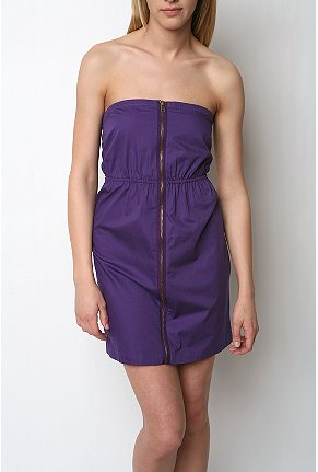 Silence & Noise zipper strapless dress $68USD at Urban Outfitters