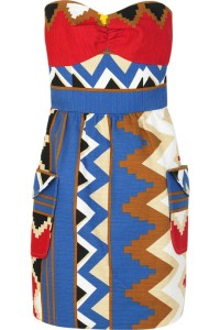 Tibi strapless printed dress. Was $330, Now $231.