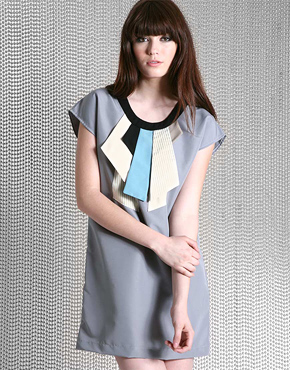 The Kiss Principle multi panel shift dress L59